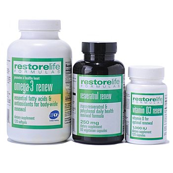 300-473 - Suzanne Somers Restorelife Formulas Essential Supplement Three Pack