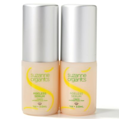 300-485 - Suzanne Somers Organics Skincare Ageless Serum Duo 1 oz Each