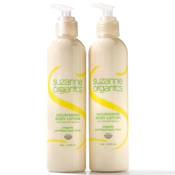 300-621 - Suzanne Somers Organics Nourishing Body Lotion Duo 8 oz Each