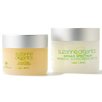 301-002 - Suzanne Somers Organics Facial Sunscreen SPF 30 & BioActive Moisturizer Duo