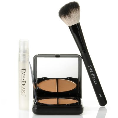 301-225 - EVE PEARL Cosmetics HD Pressed Powder & Brush w/ Mini Spray