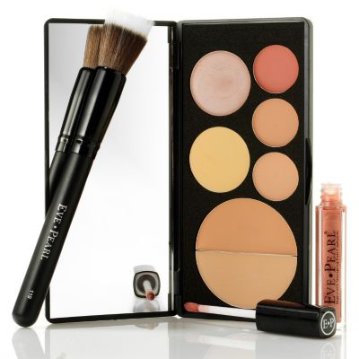 301-409 - EVE PEARL® Cosmetics Flawless Face Palette, Brush & Gloss Trio