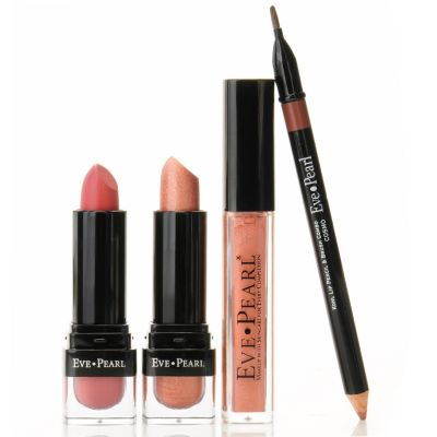 "303-848 - EVE PEARL® Cosmetics Four-Piece ""Go To"" Lip Set"