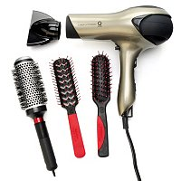 Q-Zone Quiet Dryer with 3 Styling Brushes