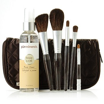 304-021 - Pür Minerals Five-Piece Perfect Brush Set w/ Brush Cleaner