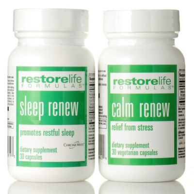 304-437 - Suzanne Somers RestoreLife Calm Renew & Sleep Renew Supplement Set