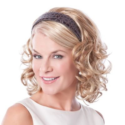 "304-532 - Toni Brattin 14"" Headband Falls Curly Hair Extension"