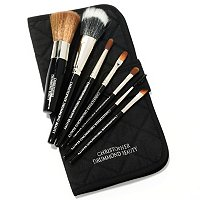 Christopher Drummond 7pc Vegan Travel Brush Set and Pouch
