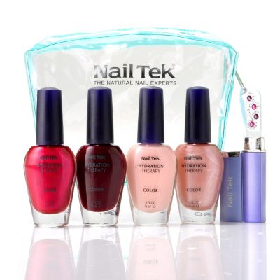 304-884 - Nail Tek Four-Piece Hydration Therapy Classic Nail Lacquer Kit w/ Bag & File