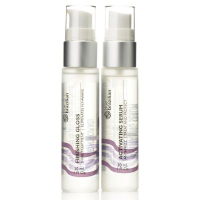 304-895 - Suzanne Somers True Brazilian Activating Serum & Finishing Gloss Duo