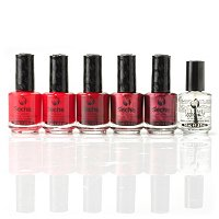 Seche 5-Piece Classic Reds with Fast Dry Top Coat