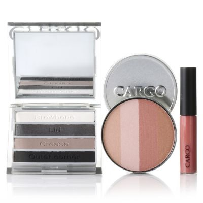 305-129 - CARGO Cosmetics Three-Piece Smokey Eye Shadow, Blush & Lip Gloss Hero Collection