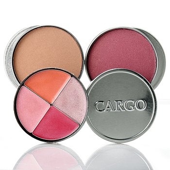305-131 - CARGO Cosmetics Three Piece Blush, Bronzer and Lip Gloss Quad Tin Collection