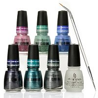 China Glaze 6-pc Transitions Collection + Top Coat + Dotting Tool