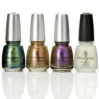 China Glaze 3-pc Bohemian Luster Chrome + Top Coat