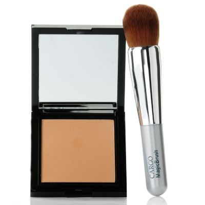 "305-154 - CARGO Cosmetics blu_ray™ Pressed Powder w/ ""All-in-One"" Magic Brush"