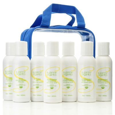 "305-210 - Suzanne Somers Organics Seven-Piece Body Care ""Try Me"" Kit"