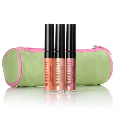 305-256 - Borghese Lively Lip Gloss Trio 0.18 oz Each w/ Bag