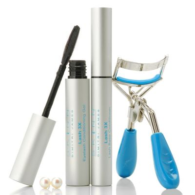 305-267 - Skinn Cosmetics Three-Piece Lash Enhancing System w/ Cultured Pearl Earrings