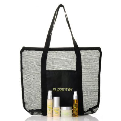 305-322 - Suzanne Somers Organics Four-Piece Head to Toe Serum Set w/ Tote Bag