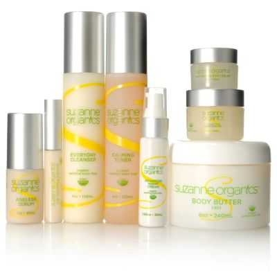 305-343 - Suzanne Somers Organics 8-Piece Ultimate Skin & Body Care Collection w/ Tote