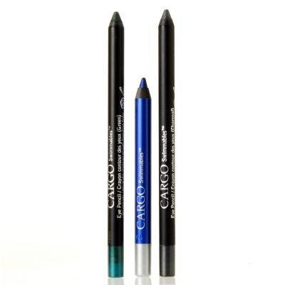 "305-360 - CARGO Cosmetics ""Swimmables"" Royal Blue, Sparkling Teal & Charcoal Eye Pencils Trio"