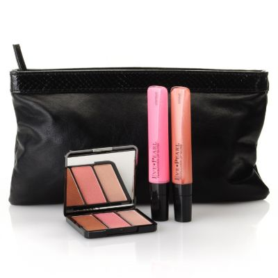 305-374 - EVE PEARL® Three-Piece Lip & Cheek Brightening Collection w/ Makeup Clutch