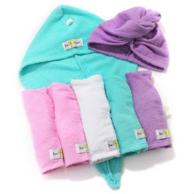 305-377 - Toni Brattin® Set of Seven Multi Colored Hair Drying Towels