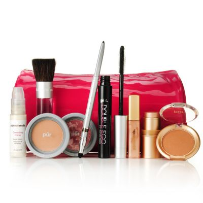 "305-516 - Pür Minerals Nine-Piece ""Summer Glow"" Anniversary Makeup Collection w/ Bag"