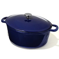 Sur La Table 8 Quart Enameled Cast Iron Oval French Oven