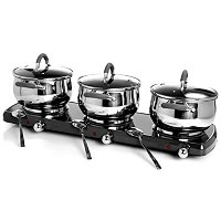 Trinity 10 Piece 1500 Watt Triple Burner Buffet Set
