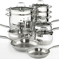 Belgique S/S 15 Pc Cookware Set