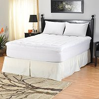 "NORTH SHORE LINENS NANO-TEX 1.5"" QUILTED MATTRESS REJUVENATOR W/ FITTED SKIRT"