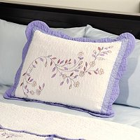 "NORTH SHORE COLLECTIBLE QUILTS ""MISTY VINE"" QUILTED SHAM"