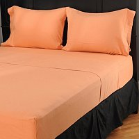 NORTH SHORE LINENS SHEERED FLANNEL SHEET SET