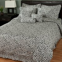NORTH SHORE LINENS 11PC ANIMAL PRINT 300TC 100% COTTON BEDDING SET