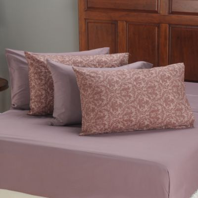 401-756 - Cozelle™ Microfiber Damask & Solid Pillowcase Pair - Set of Two