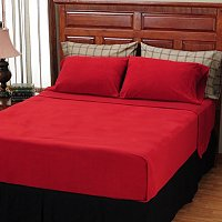 Cozelle Holiday Squares Microfilannel 6pc Sheet Set
