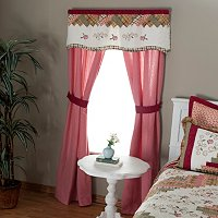 """Millbrook"" Valance and Drapes Set"