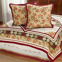 """Woodbury"" Euro Sham Pair and Bed Skirt Set"