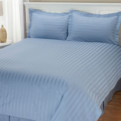 401-849 - Macy's Charter Club 500TC Pima Cotton Stripe Three-Piece Duvet Cover Set
