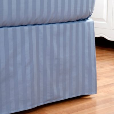 401-850 - Macy's Charter Club 500TC Pima Cotton Damask Stripe Bedskirt