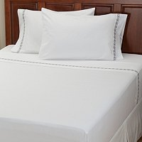"North Shore Linens ""Four Corners"" 300tc Cotton 4pc Sheet Set"