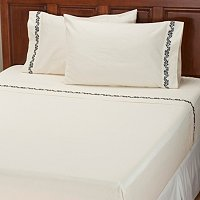 "North Shore Linens ""Caesar Leaf"" 300tc Cotton 4pc Sheet Set"