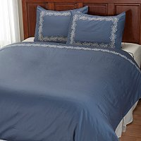 "North Shore Linens ""Caesar Leaf"" 300tc Cotton 3pc Duvet Set"