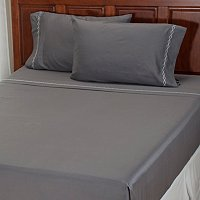 "North Shore Linens ""Double Diamond"" 300tc Cotton 4pc Sheet Set"