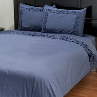 "North Shore Linens ""Ruffles"" 300tc Cotton 3pc Duvet Set"