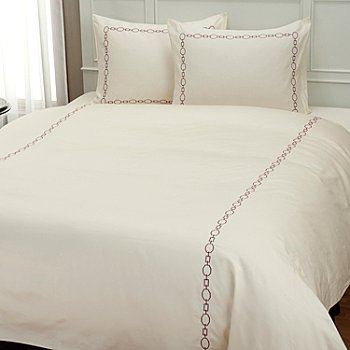 401-942 - North Shore Linens™ 300TC ''Roundup'' Embroidered Three-Piece Duvet Set