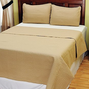 401-949 - Cozelle™ ''Pebble'' Microfiber Three-Piece Coverlet Set