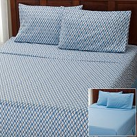 "Cozelle ""Nantucket"" Microfiber 2pk 4pc Sheet Sets"